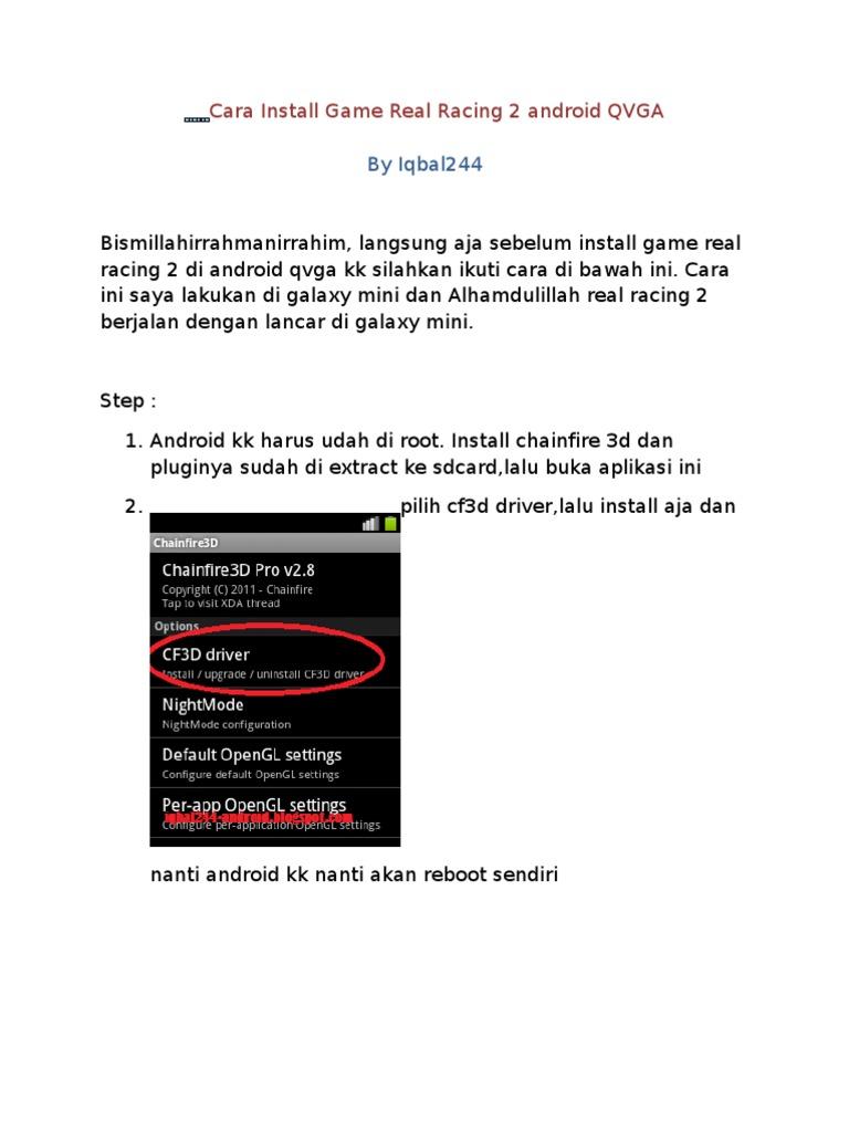 Cara Install Game Real Racing 2 Android QVGA (Iqbal244
