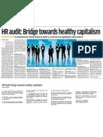 HR Audit Bridge Towards Healthy Capitalism