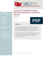 During the Great Recession,  More Young Adults Lived with  Parents