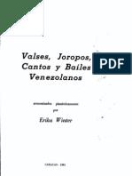 Valses, Joropos, Cantos y Bailes Venezolanos