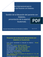 Experiencia Guatemala – Cumbre Internacional para la educación del paciente con diabetes