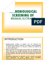 Microbiological Screening