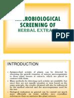Microbiological Screening
