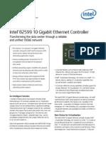 Intel 82599 10 Gbe Controller Brief