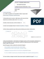 Ficha Formativa 4 - Proposta Correção 5ºano