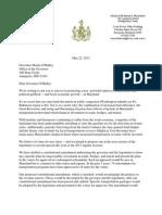 """Sen. Jim Rosapepe & Del. Brian Feldman Letter to Gov. O'Malley on """"End the Gridlock"""""""