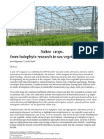 Saline Crops, From Halophyte Research to Sea Vegetable Markets
