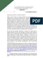 CDG - El más acá de la experiencia del servicio parlamentario peruano (2012)