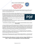 FAA DNC 2012 Flight Advisory