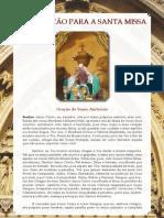 Folheto de Orações para antes e depois da Santa Missa