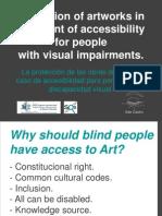 Proteccion Obras Arte Accesibilidad Discapacidad Visual AdeCastro CongGranada2011