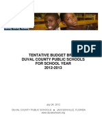 2012-2013 Tentative Budget Brief