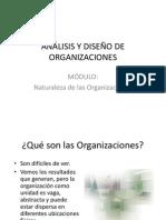 ANÁLISIS Y DISEÑO DE ORGANIZACIONES