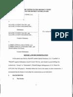 Lambda Optical Solutions, LLC v. Alcatel-Lucent USA Inc., C.A. No. 10-487-RGA-CJB (D. Del. Aug. 3, 2012).