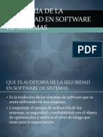 Auditoria de La Seguridad en Sotfware de Sistemas