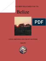 Peace Corps Belize Welcome Book  |  August 2012