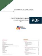 Balance Del Proyecto Educativo Nacional 2011