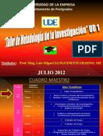 UDE Taller de Metodologìa JULIO 2012 UD 1