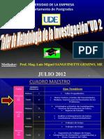 UDE Taller de Metodología JULIO 2012 UD 2