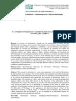 conceito de informação... ontologico e fenomenológico