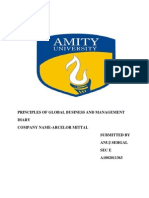Principles of Global Business and Management Diary