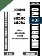 Reforma Laboral Boletin informativo marzo  2012