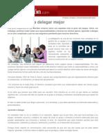Expansión - Emprendedores & Empleo - Decálogo para delegar mejor - Julio 2012