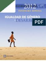 Igualdad de Genero y Desarrollo