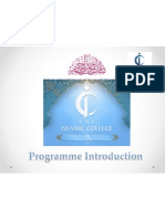 Introduction to Islamic Colege, London