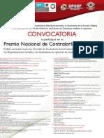 Convocatoria Premio Nacional de Contraloría Social 2012