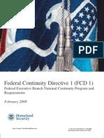 Federal Contunuity Directive
