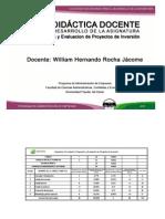 Guia Docente de Clase Proyectos 2012 II