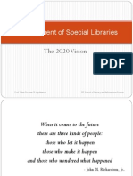 Management of special libraries
