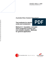 As NZS 1660.2.1-1998 Test Methods for Electric Cables Cords and Conductors Insulation Extruded Semi-conductiv