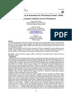 Development of an Instrument for Measuring Women's Multi-