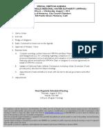 Mprwa Special Meeting Agenda Packet 08-01-2012