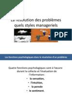 La résolution des problèmes quels styles manageriels