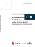 As NZS 3200.2.23-2001 Medical Electrical Equipment Particular Requirements for Safety - Transcutaneous Partia