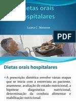 Dietas orais hospitalares
