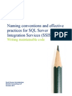 SSIS Naming Conventions and Effective Practices