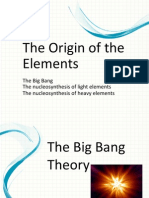 1_The Origin of the Elements