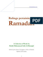 Rulings Pertaining to Ramadaan