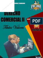 Derecho Comercial II - Títulos Valores (Max Gutierrez Condori)