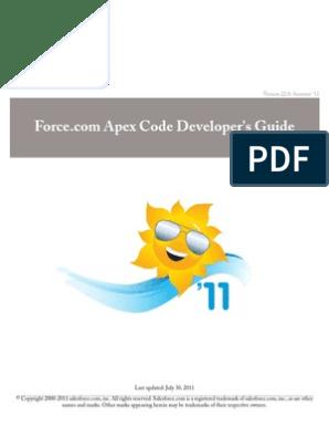 Apex | Salesforce Com | Class (Computer Programming)