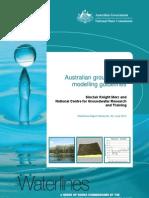 Waterlines 82 Australian Groundwater Modelling Guidelines