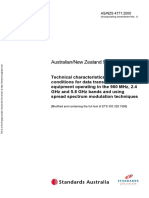 As NZS 4771-2000 Technical Characteristics and Test Conditions for Data Transmission Equipment Operating in t