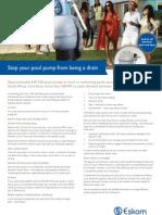 Eskom - Pool Pump Fact Sheet