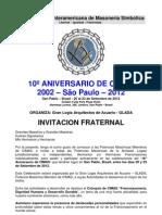 CIMAS - PROGRAMA 10º ANIV. - 2012