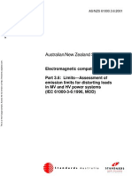 As NZS 61000.3.6-2001 Electromagnetic Compatibility (EMC) Limits - Assessment of Emission Limits for Distorti