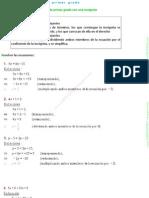 Ejercicios Resueltod de Ecuaciones de Primer y Segundo Grado